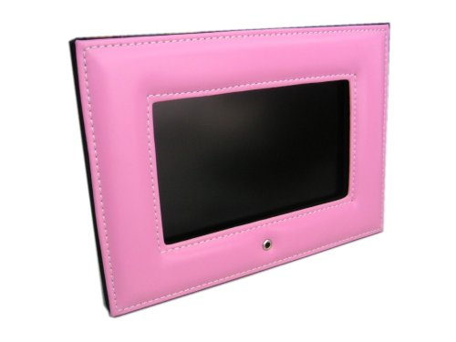 "7"" Hi-End Digital Photo Album TV w/ Pink Leather Frame"