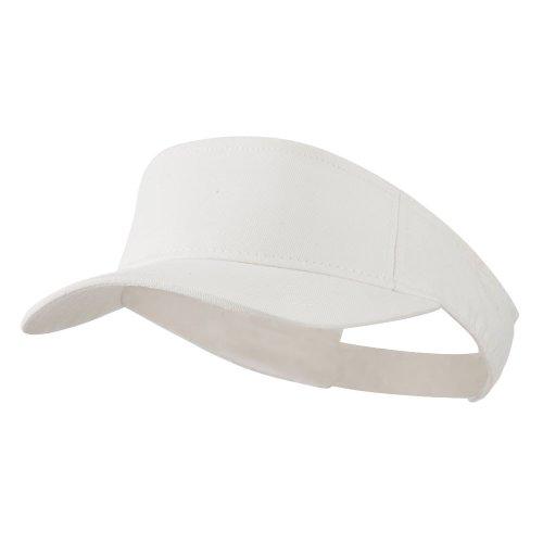 Outdoor Cap Cotton Twill Visor - White