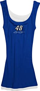 Jimmie Johnson #48 Ladies Prospect Rib Knit Tank Top by College Concepts