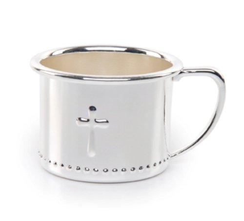 Mud Pie Baby Classic Keepsakes Silver-plate Cross Cup