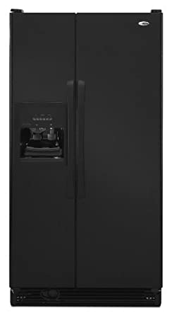 Amana 25-Cubic-Foot Side-by-Side Refrigerator, ASD2522WRB, Black