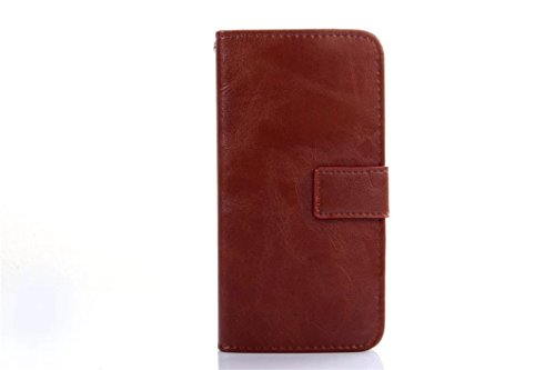 Borch Fashion Unique High Quality 2 in 1 Separable Crazy-horse Leather Case Grain Case Magnetic Flip Cover Wallet Leather Case for Iphone 6 4.7 Inch (Brown)