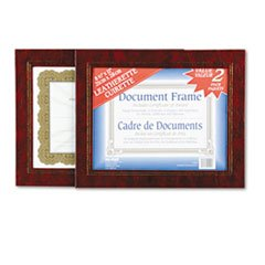 -- Leatherette Document Frame, 8-1/2 x 11, Burgundy, Pack of Two