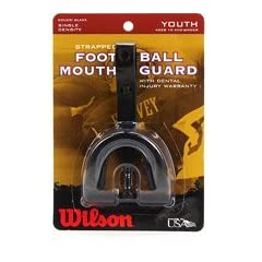 Buy Mouth Guard Strapped Youth Yellow Wilson Single Density by Wilson