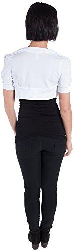 Ambiance Apparel Women's Bolero Shrug Cardigan, White, Large