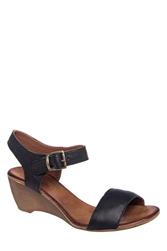 Casual Single-Strap Low Wedge Sandal