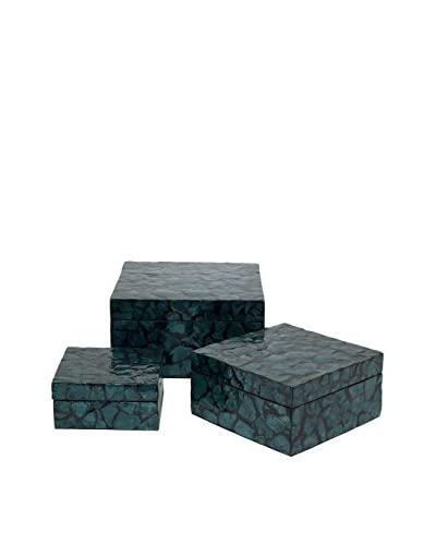 Three Hands Set of 3 Pebbled Boxes