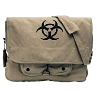 "KHAKI ""BIO-HAZARD"" MESSENGER BAG Classic"