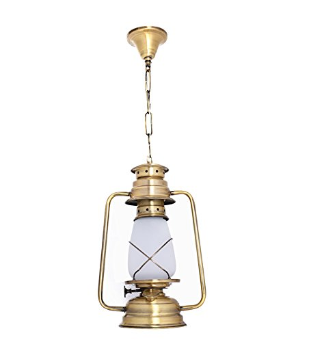 Fos Lighting Vintage Brass Lantern Hanging Light