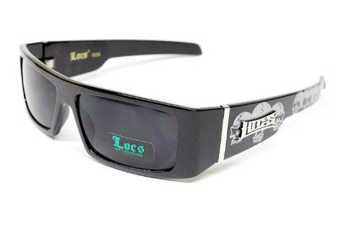 Locs Hardcore Gangster Thug Biker Sunglasses Mens Black Skull Lc59 (Locs Skull compare prices)