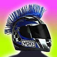 Hairy-R's Helmet Mohawk Blue