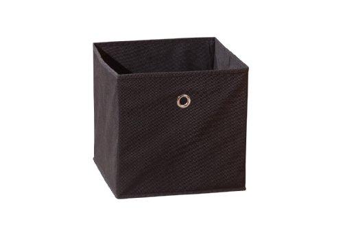 99200270 Regalbox Regalkorb Aufbewahrungsbox Schrankbox Box Würfel faltbar Regal schwarz