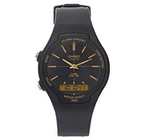Timeless Design Casio Men's Black Combi Date and Day Display Watch
