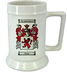 Rossey Family Crest Stein / Rossey Coat of Arms Stein