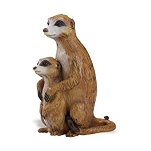 Meerkat with Baby Animal Figure