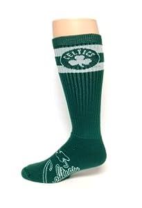 Boston Celtics Retro Tube Socks Size Large by For Bare Feet