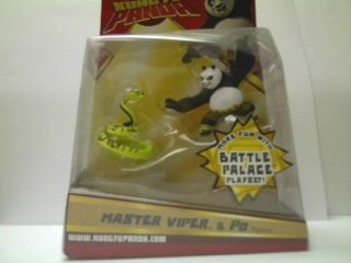 Picture of Mattel Kung Fu Panda Master Viper & Po Figure (B0017RYNY4) (Mattel Action Figures)