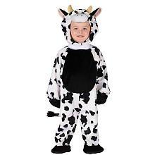 Fun World Toddler Cow Calf Kids Farm Animal Halloween Costume (Size 3T-4T)