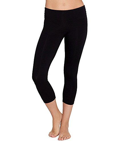 Calvin Klein Performance Side Shirred Cropped Leggings, XS, Black