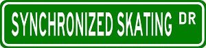 SYNCHRONIZED SKATING Street Sign - Sport Sign - High Quality Aluminum Street Sign