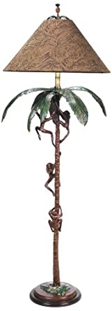 George In The Jungle Tropical Monkey Floor Lamp Palm