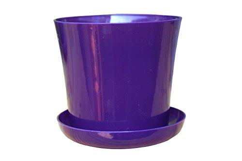 flower-pots-12-colours-3-sizes-gloss-plastic-plant-pots-planter-saucer-tray-violet-16-cm