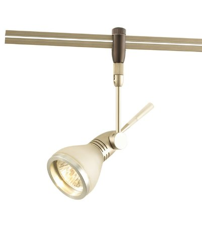 Alico Industries FRH1500-5-16M-29M Dart Collection 1-Light Directional 12-Volt Rail Head with Rail Adapter, Matte Satin Nickel Finish with Frosted Shade