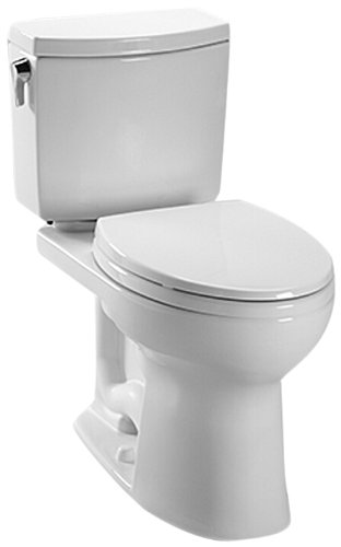 Toto CST454CUFG#01 Drake II 1G Close Coupled Toilet with SanaGloss, Cotton