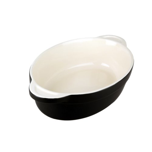 Denby Oven to Table 10-Inch Oval Casserole, 1.6-Liter, Black