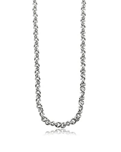 Juinsix Made in Italy Collection Rhodium-Plated Roller Coaster Chain Necklace