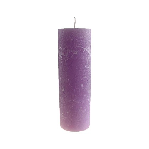 Stera Candles 17903.21048 4-pack of high quality, garden candles, hand cast and coloured, height 25 cm; Ø 8 cm; colour lilac