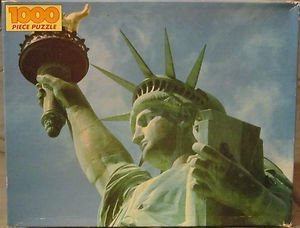 Statue of Liberty 1000 Pc Puzzle Golden