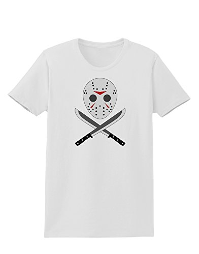 Scary Mask With Machete - Halloween Womens T-Shirt