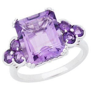 Fashion Forward Emerald Cut Amethyst Ring