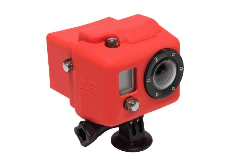 Red Hooded Silicone Cover for GoPro HD