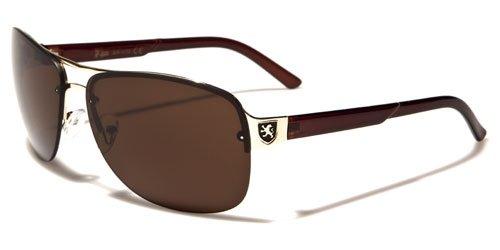 209a12f8b4 KHAN Men s Fashion Aviator Style Sunglasses (With Free Microfiber  Protective Bag) (Brown)