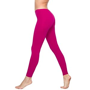 American Apparel Cotton Spandex Jersey Legging - Raspberry / S