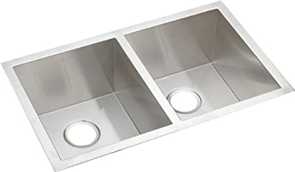 Elkao|#Elkay EFU311810 16 Gauge Stainless Steel 30.75 Inch x 18.5 Inch x 10 Inch Double Bowl Undermount Kitchen Sink,