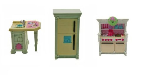 Fisher Price Loving Family Dollhouse Kitchen Replacement Home for Holidays
