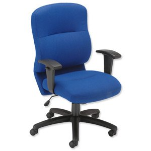 Trexus Office Medium Back Visitors Chair Seat W455xD435xH480mm Black