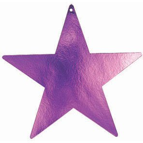 purple 5 inches stars 5pk