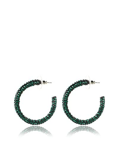 Amrita Singh Orecchini Pave Crystal Hoops [Verde]