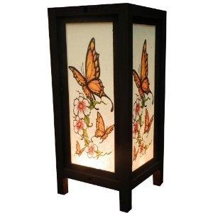 Amazon.com: Thai Vintage Handmade Asian Oriental Butterfly Bedside ...