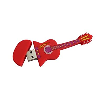 Microware 32GB Red Electric Guitar ShMicroware Designer Pendrive