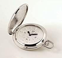 Seculus Rhodium Braille Pocket Watch White face
