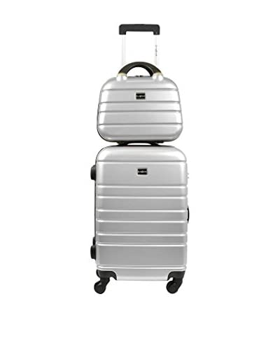 CARLA BELOTTI Set Trolley Rigido e Beauty Case Parme