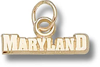 Maryland Terrapins Maryland Charm - 14KT Gold Jewelry by Logo Art