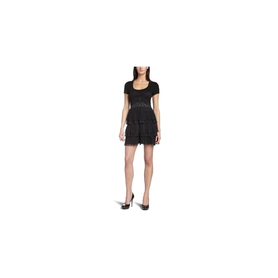 Nicole Miller Womens Ruffle Dress