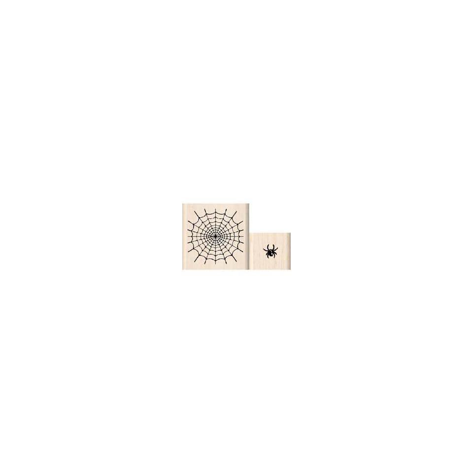 SPIDER & WEB (SET OF 2) Rubber Stamp InkaDinkaDo