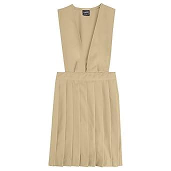 French Toast School Uniforms V-Neck Pleated Jumper Girls khaki 6x